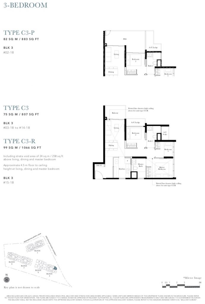 the garden residences 3 bedroom study floorplan