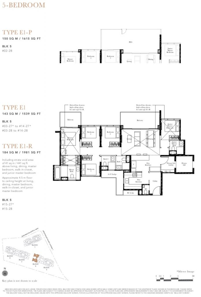 the garden residences 5 bedroom floor plan
